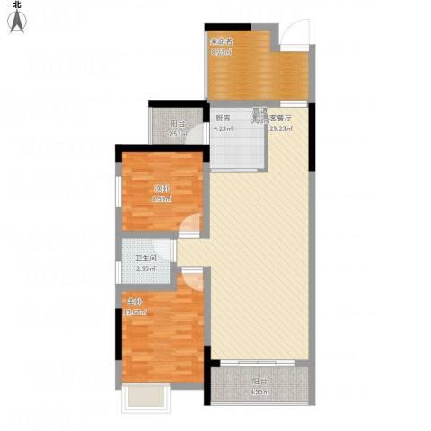 富盈香茶郡2室1厅1卫1厨103.00㎡户型图