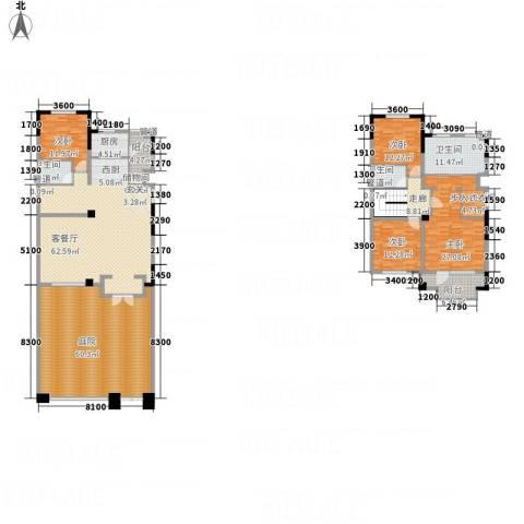 海泉湾・霞光府4室1厅3卫1厨229.74㎡户型图