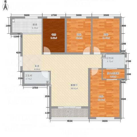 祥和嘉园4室1厅2卫1厨149.00㎡户型图