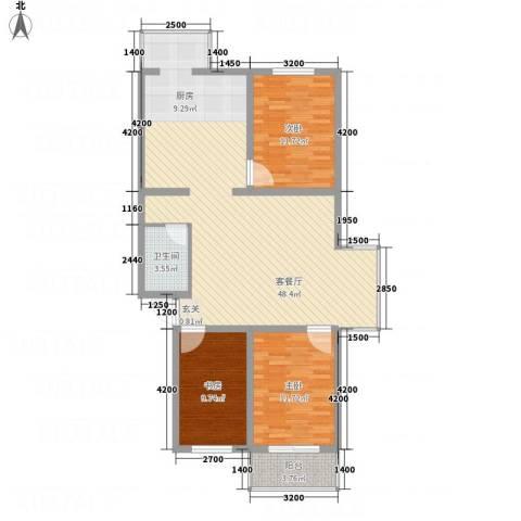 腾龙苑3室1厅1卫0厨125.00㎡户型图