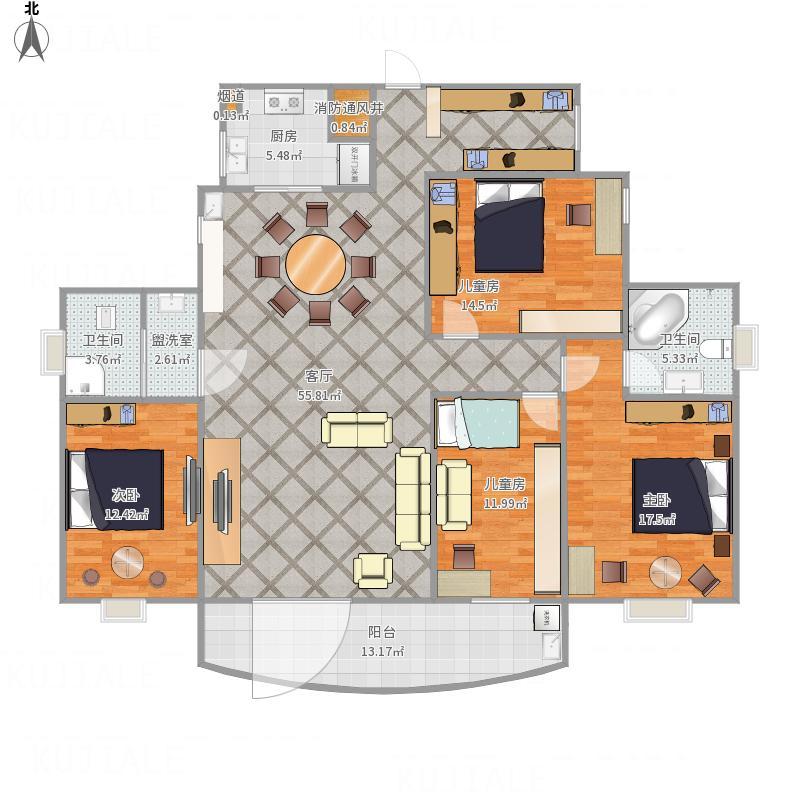 常德-广德花苑3-4-设计方案