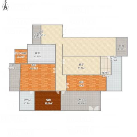 萧遥岛中心城市暨美颜城双层别墅3室2厅2卫1厨629.00㎡户型图