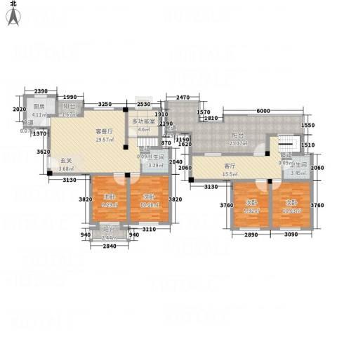 腾龙苑4室2厅2卫1厨185.00㎡户型图