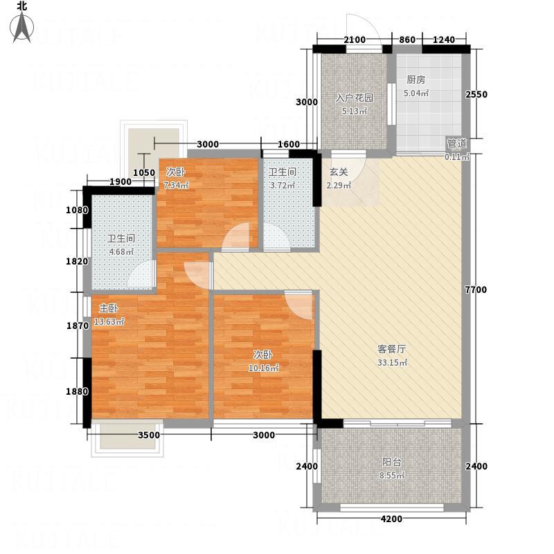 鼎湖森邻曲水轩G1、G2栋15-18层02单元户型