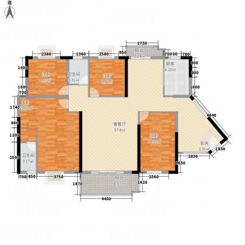 东方新城4室1厅2卫1厨139.55㎡户型图