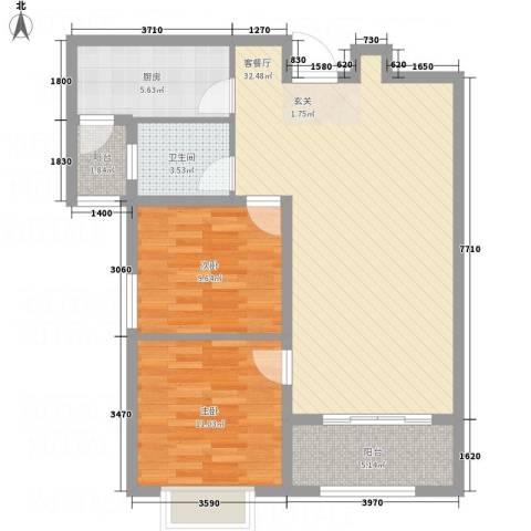 星凯国际广场2室1厅1卫1厨69.28㎡户型图