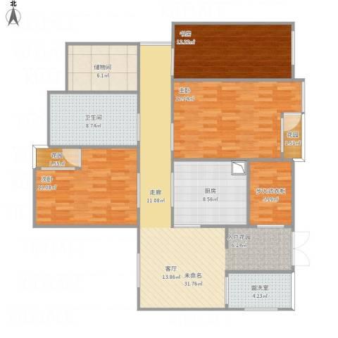 酷特区3室1厅1卫1厨147.00㎡户型图