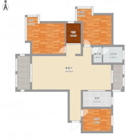 御景豪庭4室2厅1卫1厨154.00㎡户型图