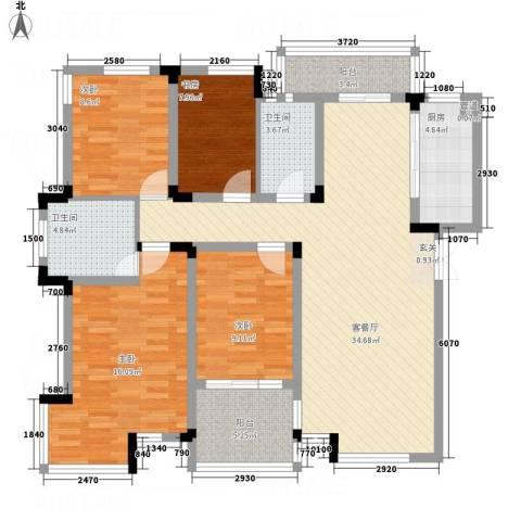 新港名都花园4室1厅2卫1厨141.00㎡户型图