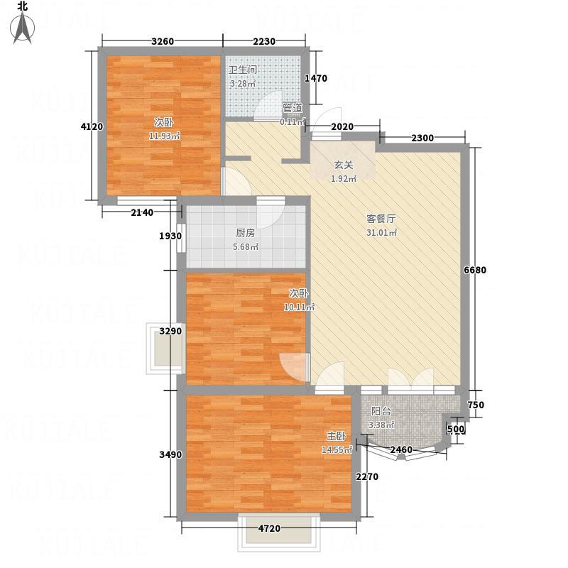 太扬家园113.00㎡户型3室