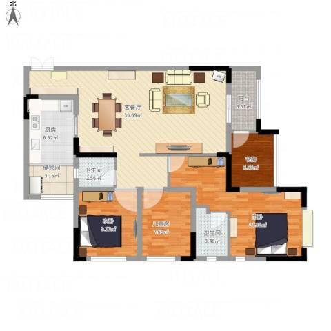 爱加橄榄园4室1厅2卫1厨138.00㎡户型图