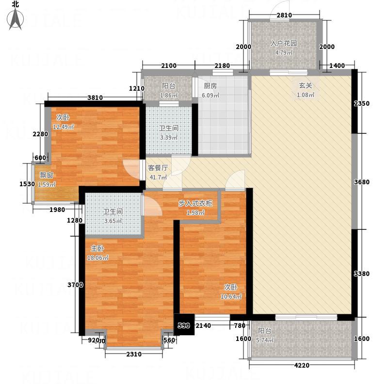 天元翡翠国际1213.71㎡1栋2栋4栋5栋10栋12栋B1户型3室2厅2卫1厨