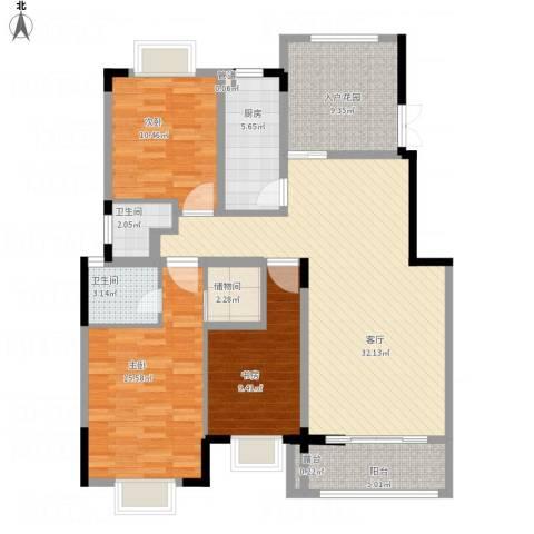 生活艺术城(art国际)3室1厅2卫1厨137.00㎡户型图