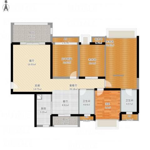 明景・江南世家1室1厅2卫1厨172.00㎡户型图