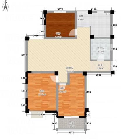 书香府第3室1厅1卫1厨122.00㎡户型图