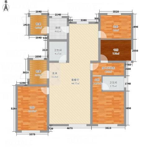 牡丹城4室1厅2卫1厨177.00㎡户型图