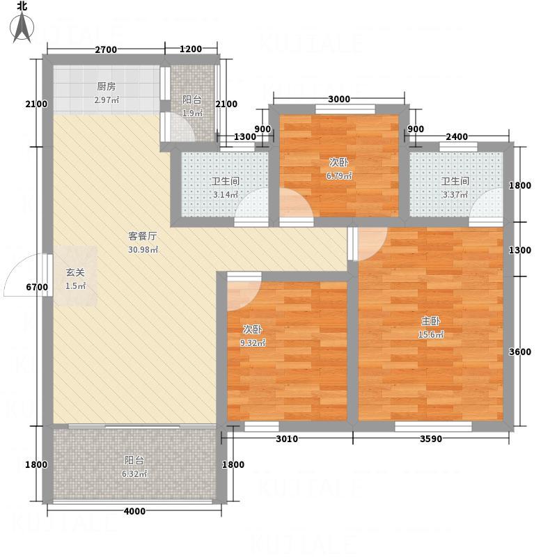 阳光世纪风景A2户型3室2厅2卫1厨