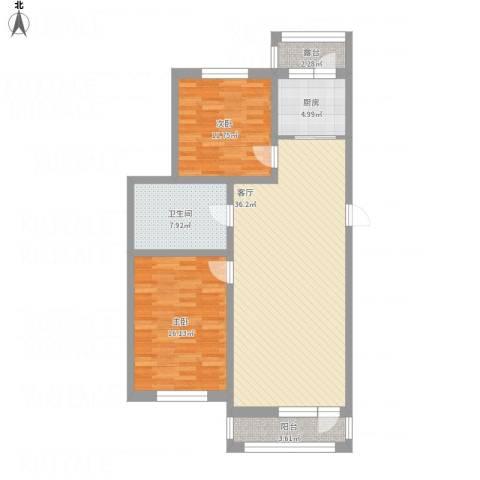 襄平蓝庭114.372室1厅1卫1厨120.00㎡户型图