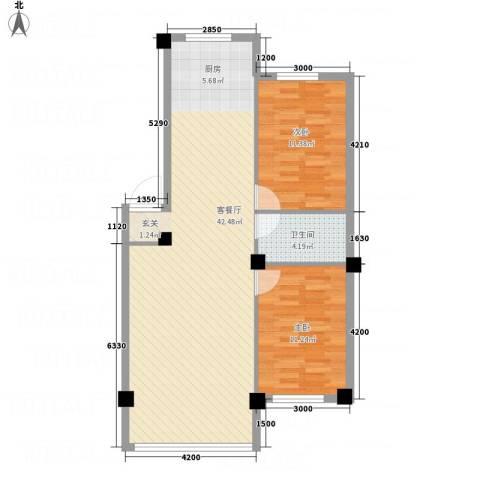云鼎家园2室1厅1卫0厨69.28㎡户型图