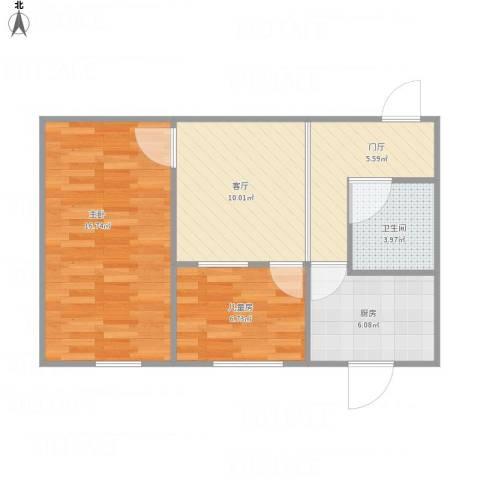 科育小区2室1厅1卫1厨67.00㎡户型图