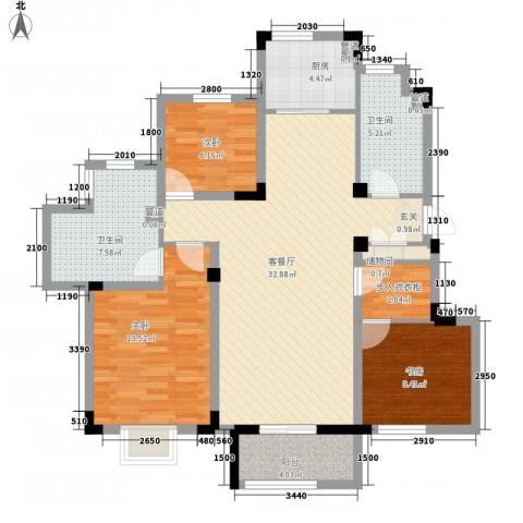 信达-泉天下3室1厅2卫1厨5123.00㎡户型图
