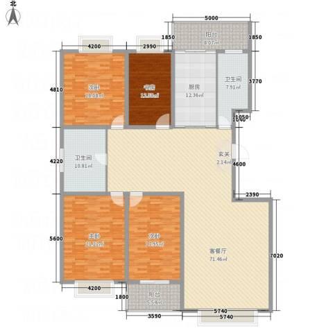 文华园竹韵4室1厅2卫1厨257.00㎡户型图