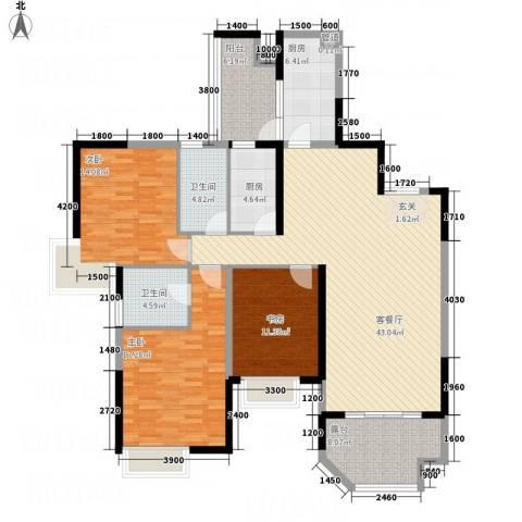 山海天3室1厅2卫2厨23147.00㎡户型图