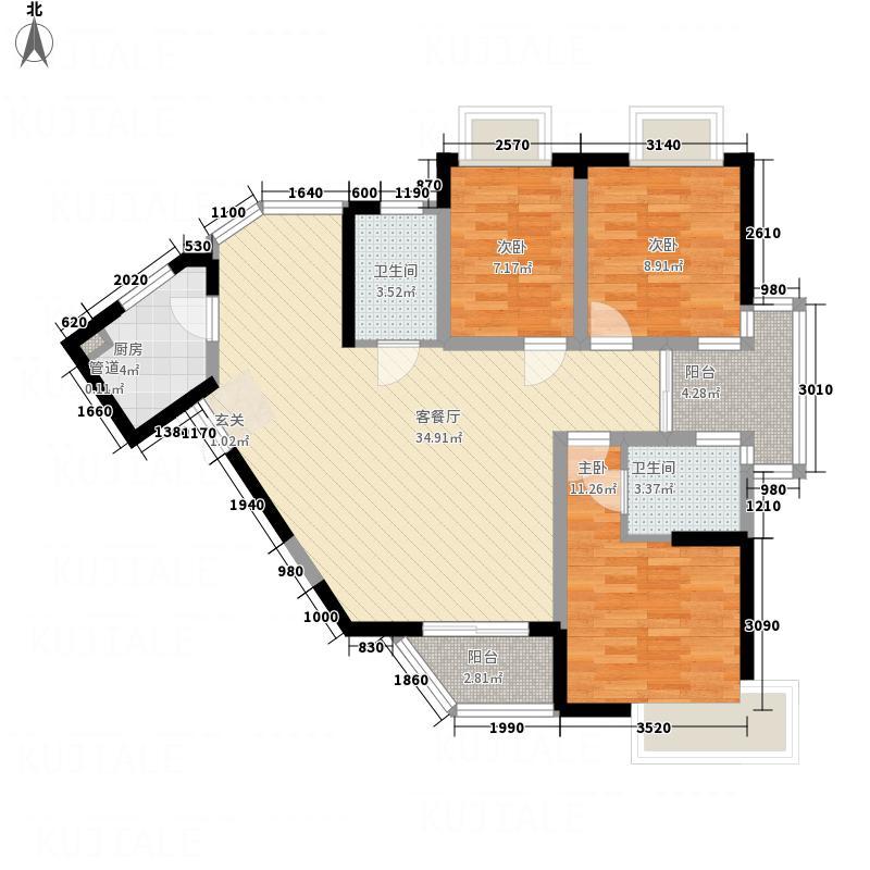 湘府9号户型3室
