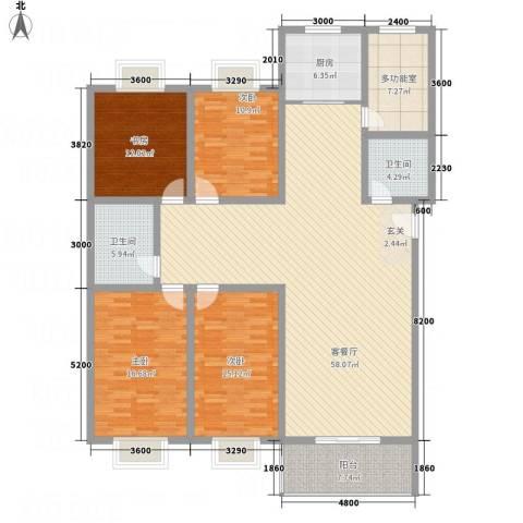 文华园竹韵4室1厅2卫1厨203.00㎡户型图