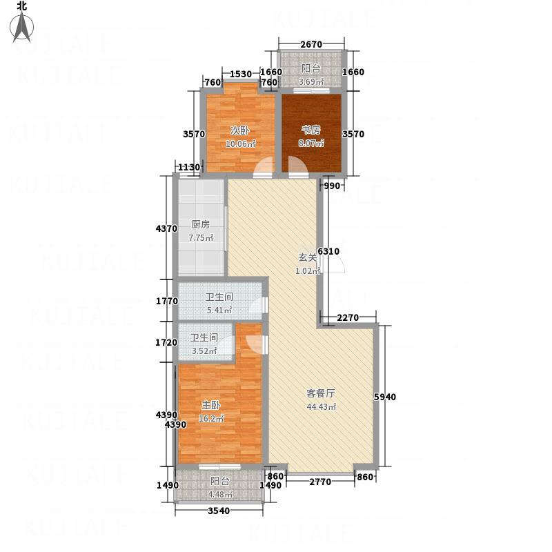 文华园竹韵146.11㎡竹韵3户型3室2厅2卫1厨