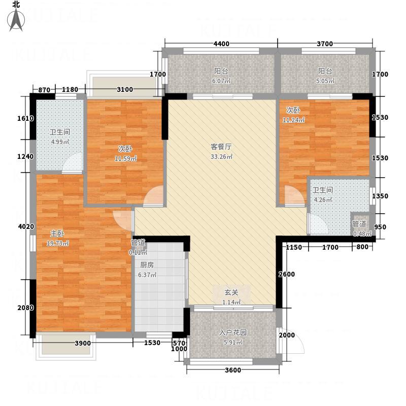 鼎湖森邻曲水轩G1、G2栋15-18层03单元户型