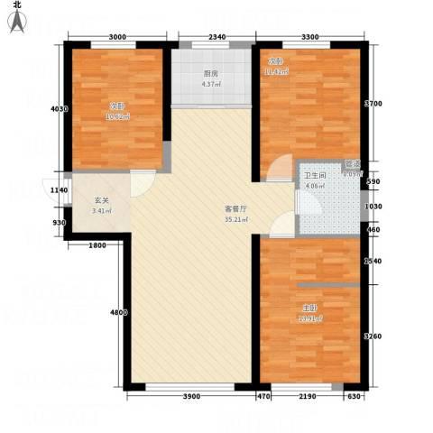 盛景红海河3室1厅1卫1厨112.00㎡户型图
