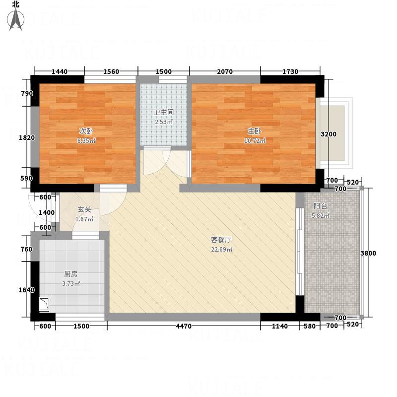 万豪一品2273.33㎡C-户型2室2厅1卫1厨