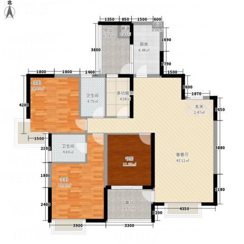山海天3室1厅2卫1厨22147.00㎡户型图