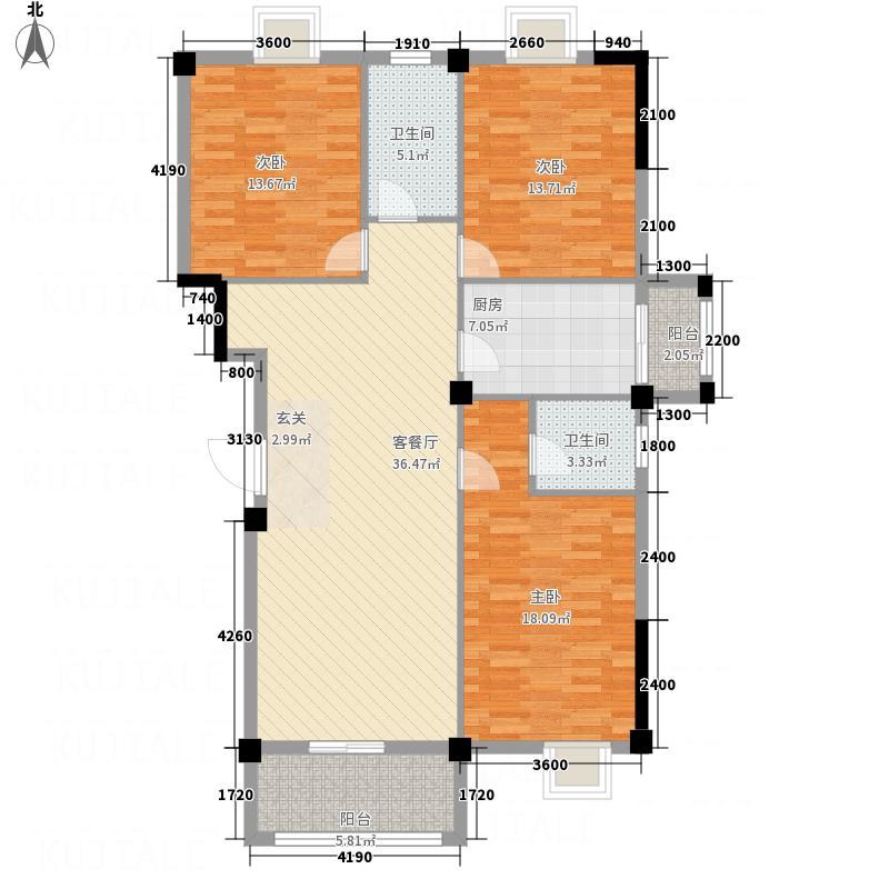 楚荣・首府户型3室2厅2卫1厨