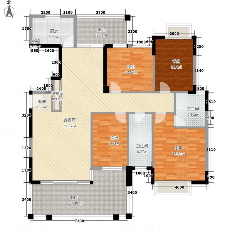 莲子塘小区户型4室