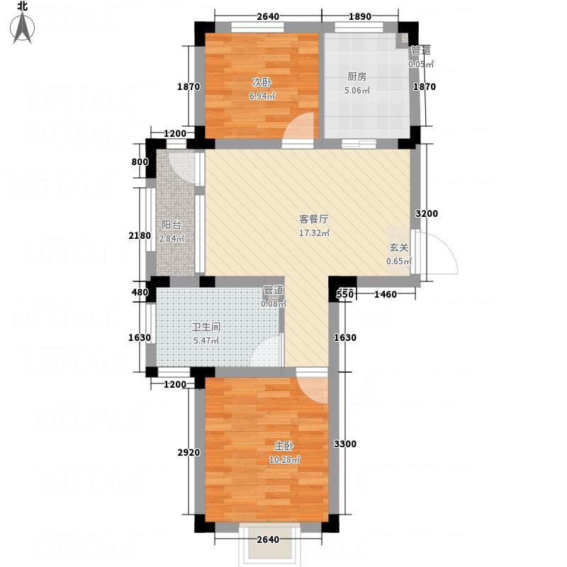 信达-泉天下127.20㎡D1-2户型2室2厅1卫