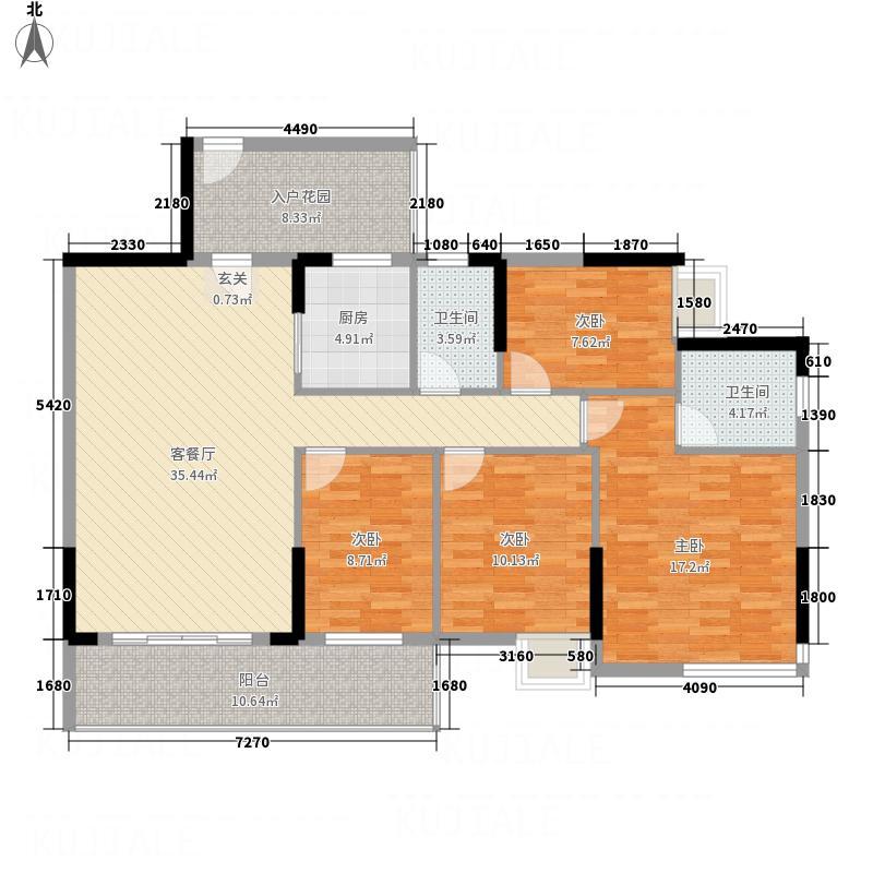 0雅仕居155.00㎡1栋户型4室2厅2卫1厨