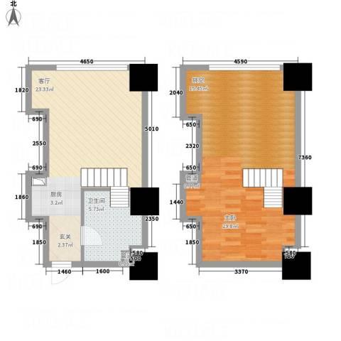凯宾国际1室1厅1卫0厨85.00㎡户型图