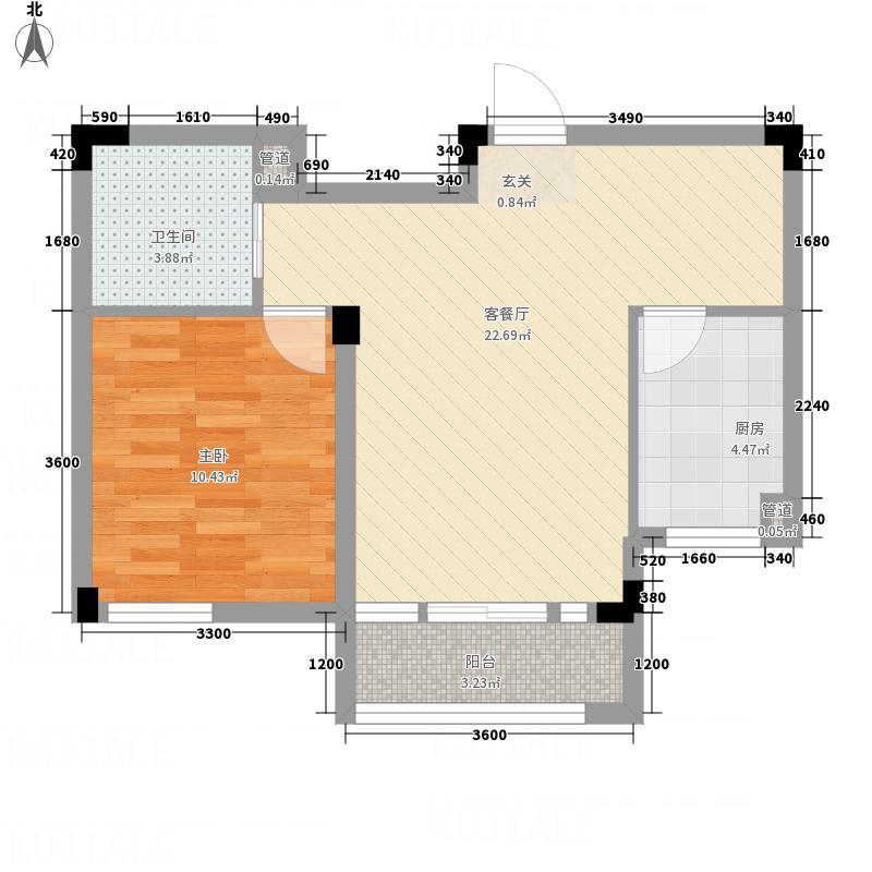 信达-泉天下116.20㎡D1-1户型1室2厅1卫
