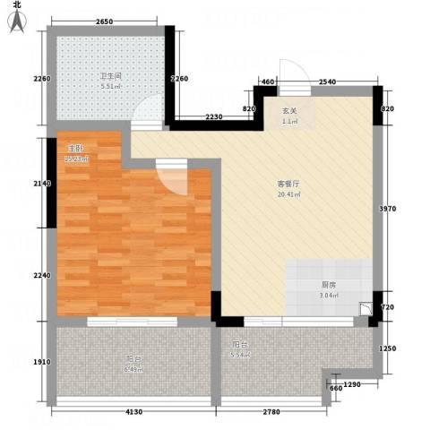 联泰香域尚城1室1厅1卫0厨78.00㎡户型图