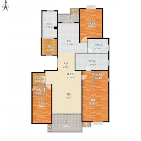 京门府3室1厅2卫1厨223.00㎡户型图