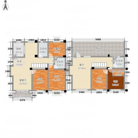 腾龙苑5室2厅3卫1厨218.00㎡户型图