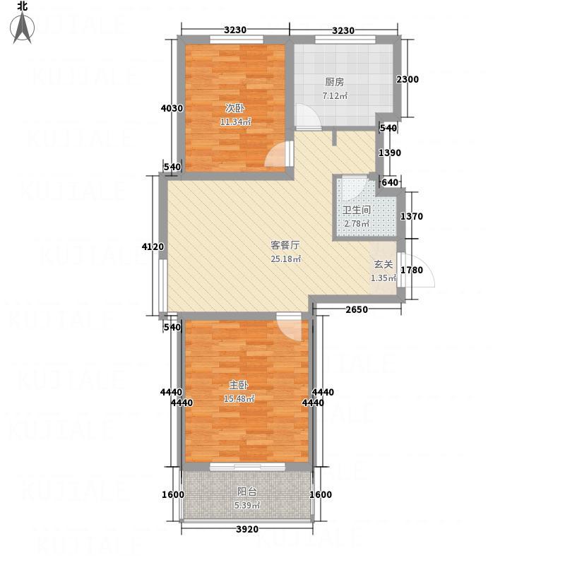 瑞比凰庭5.63㎡c1-1户型2室2厅1卫