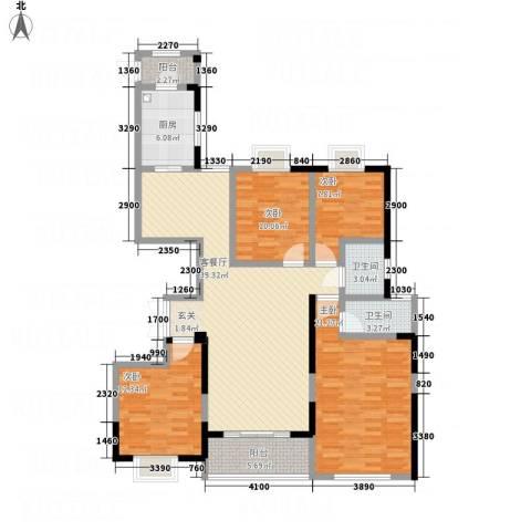 嘉宏盛世公寓4室1厅2卫1厨161.00㎡户型图