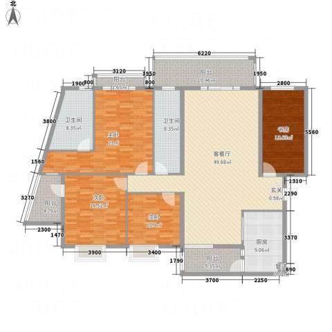 蟠龙山水豪庭4室1厅2卫1厨225.00㎡户型图