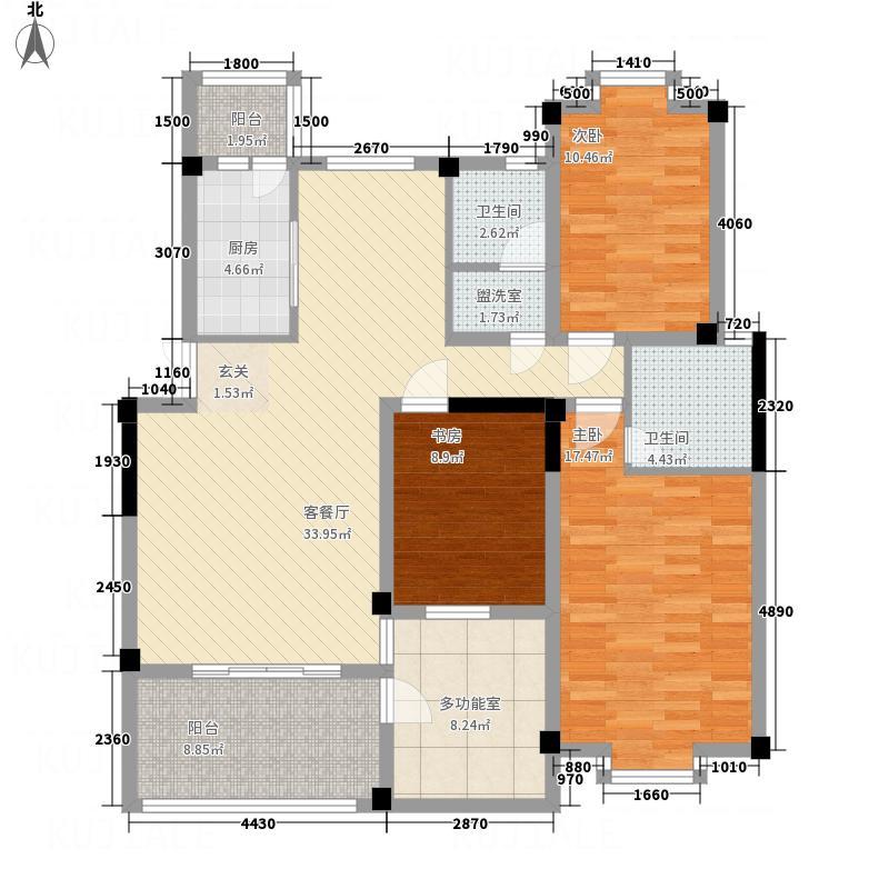 东江花园148.00㎡Y-D户型4室2厅2卫1厨