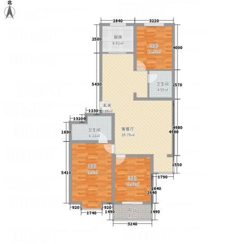 佳境天成3室1厅2卫1厨144.00㎡户型图