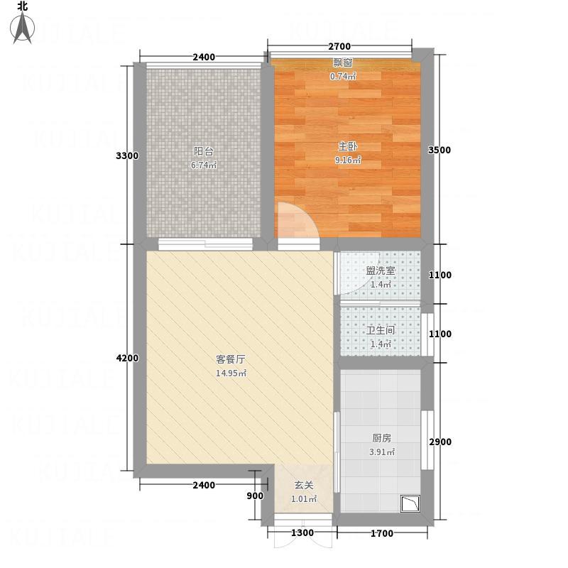 梓州国际公寓5.00㎡B1户型1室1厅1卫