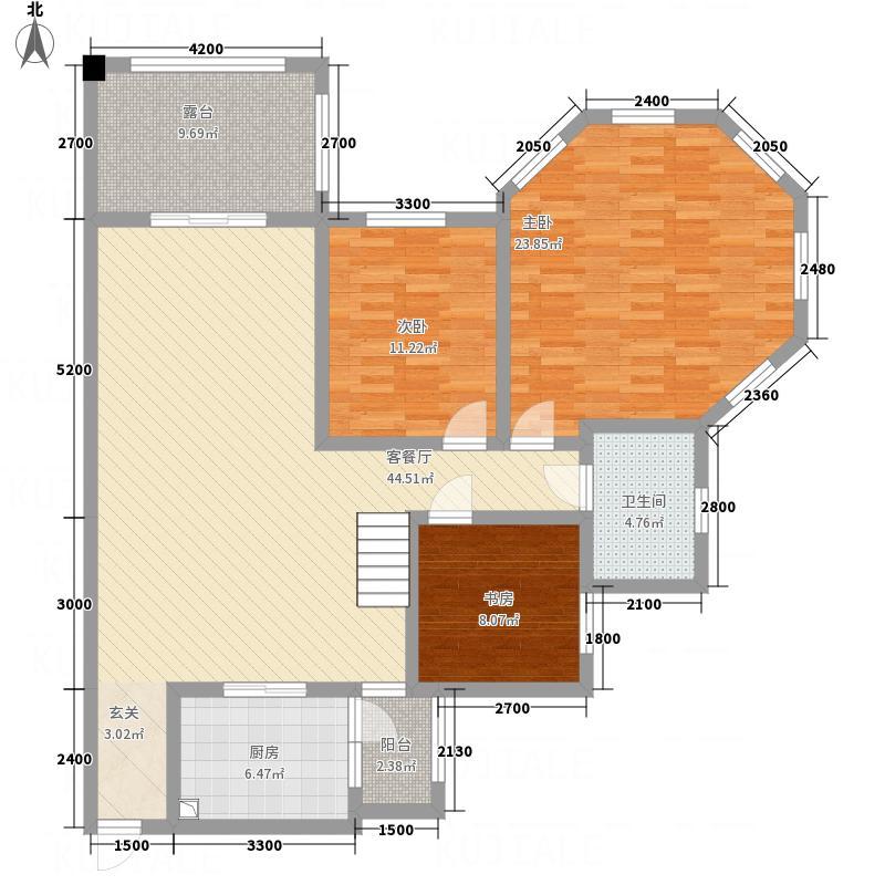 金河湾85.00㎡三期6层标准户型